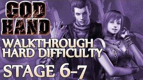 ★ God Hand Walkthrough ▪ Hard Mode - Stage 6-7 ▪ Psychic Midget Boss Fight