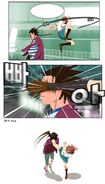 Mi-Ra air kick Man-Suk