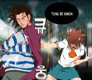 Mi-Ra using Tong Be Kwon on Man-Suk