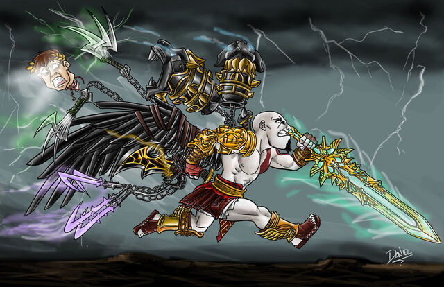 File:Kratos and Weapons.jpg