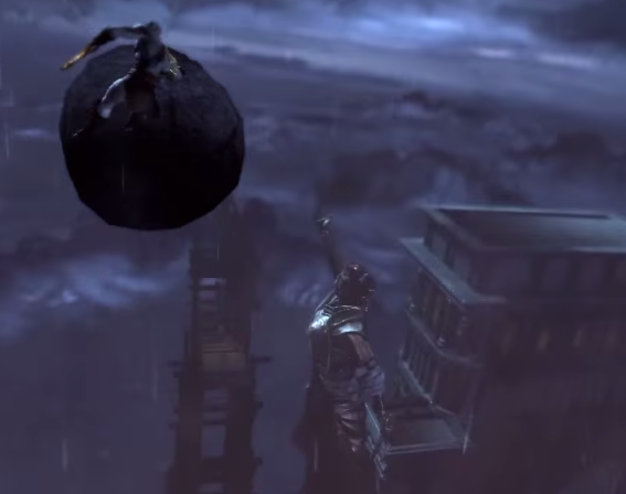 File:Kratos about to hit Athena's Statue.PNG