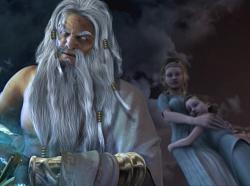 File:God-of-war-2-zeus-kratos-wife-child.jpg
