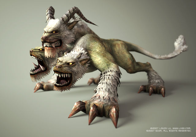 File:640x450 4456 God of War II Cerberus 3d fantasy creature cerber picture image digital art.jpg