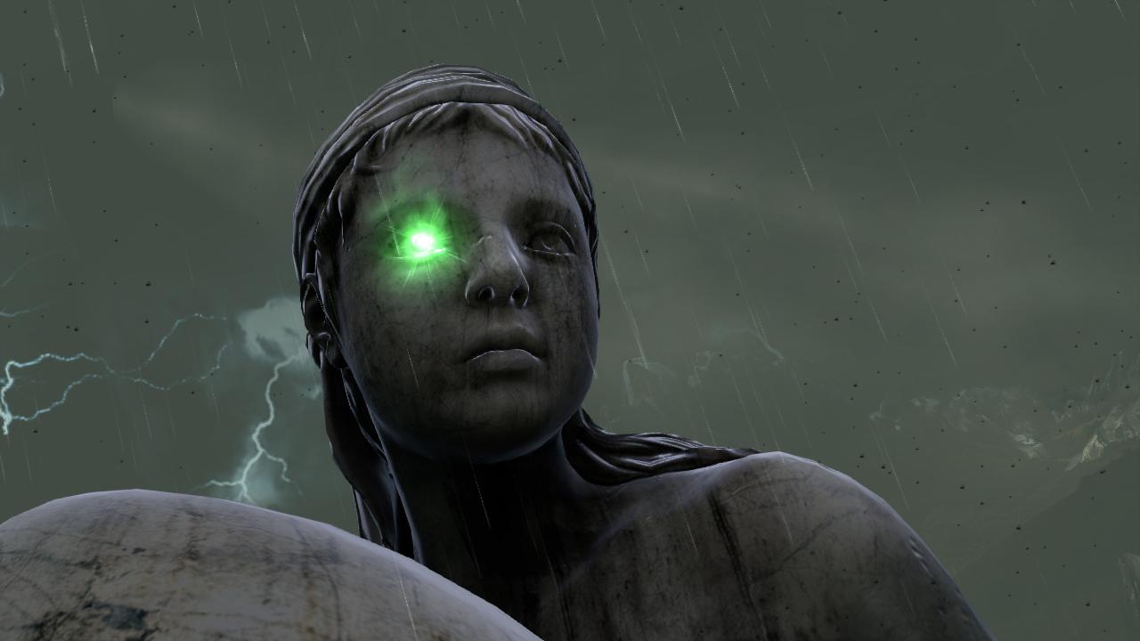 Imagen estatua de los jardines del olimpo con piedra de for God of war 3 jardines superiores