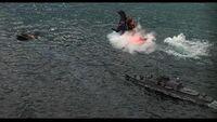 GvsD - IJN Shirayuki following Godzilla