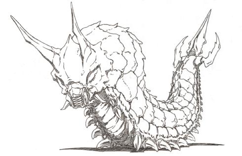 File:Concept Art - Godzilla vs. Mothra - Battra Larva 4.png