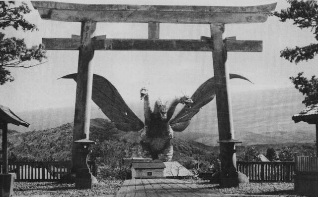 File:GT3HM - King Ghidorah Behind the Gate.jpg