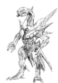 Concept Art - Godzilla 2000 Millennium - Orga 41