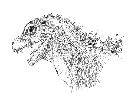 File:Concept Art - Godzilla 2000 Millennium - Godzilla Head 4.png
