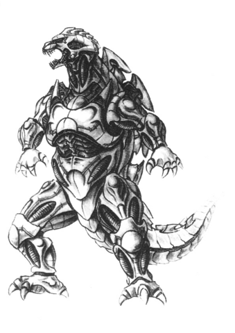 File:Concept Art - Godzilla Against MechaGodzilla - Kiryu 54.png