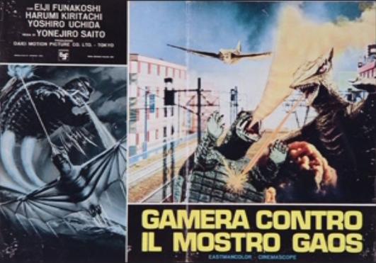 File:Gamera - 3 - vs Gyaos - 99999 - 1 - Italian Poster.png