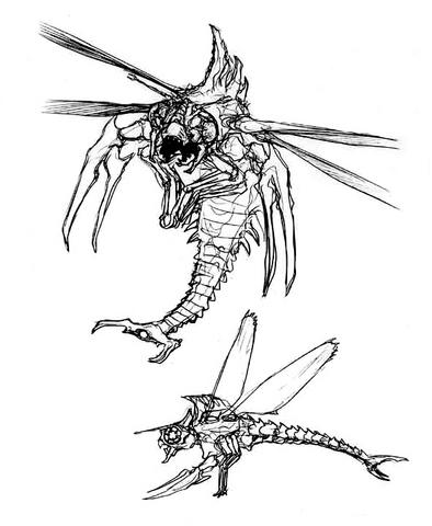 File:Concept Art - Godzilla vs. Megaguirus - Meganula 6.png