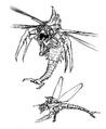 Concept Art - Godzilla vs. Megaguirus - Meganula 6