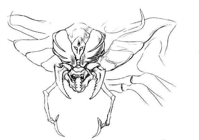 File:Concept Art - Godzilla vs. Megaguirus - Megaguirus 10.png