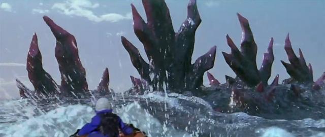 File:Godzilla vs. Megaguirus - Godzilla surfaces dorsal plates-first.png