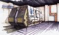 Concept Art - Godzilla vs. MechaGodzilla 2 - G-Force Shuttle