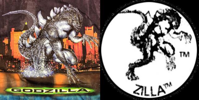File:Copyright Icon Zilla and GODZILLA 1998 T-Shirt Comparison.png