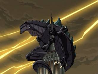 Zilla Junior as he appears in the opening of Godzilla: The Series (click to enlarge)