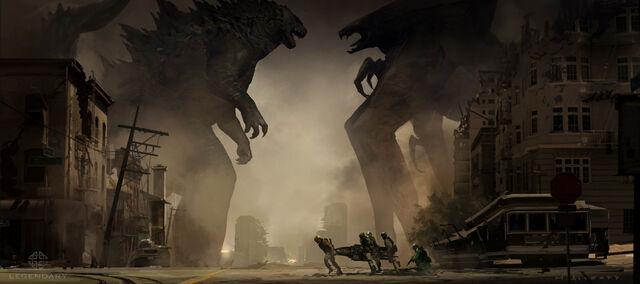 File:Concept Art - Godzilla 2014 - Godzilla vs. MUTO 9.jpg