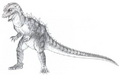 Concept Art - Godzilla vs. MechaGodzilla 2 - Baby Godzilla 9