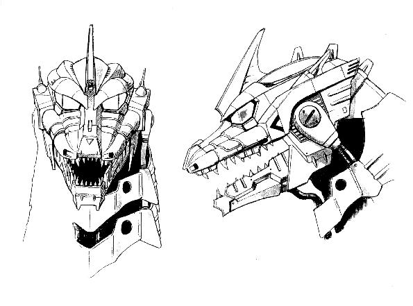 File:Concept Art - Godzilla Against MechaGodzilla - Kiryu Head 2.png