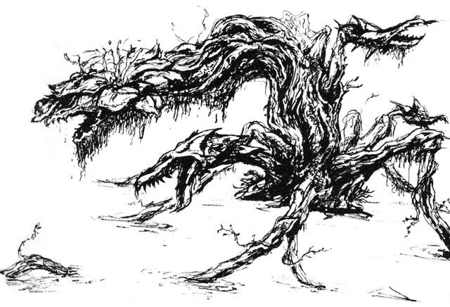 File:Concept Art - Godzilla vs. Biollante - Biollante 3.png