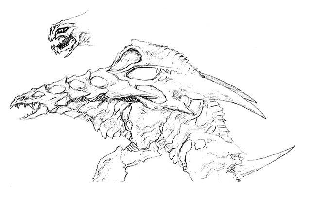 File:Concept Art - Godzilla 2000 Millennium - Orga 58.png