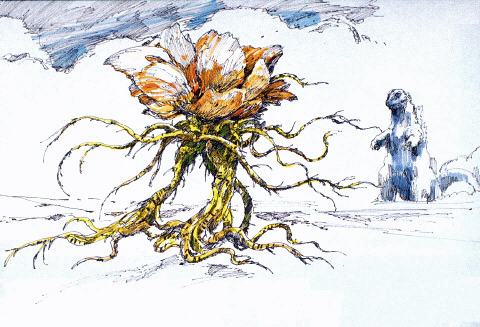 File:Concept Art - Godzilla vs. Biollante - Godzilla vs. Rose Biollante 5.png