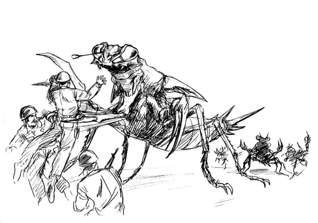 File:Concept Art - Godzilla vs. Megaguirus - Meganulon 3.png