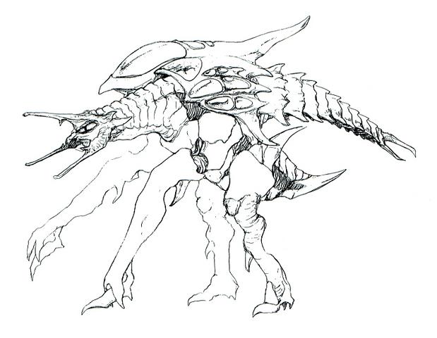File:Concept Art - Godzilla 2000 Millennium - Orga 49.png
