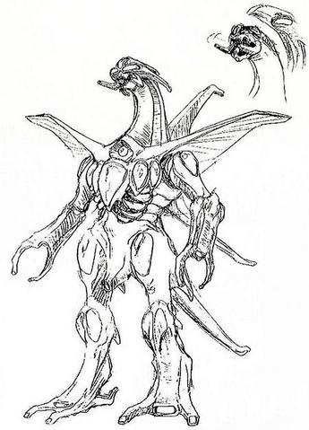 File:Concept Art - Godzilla 2000 Millennium - Orga 7.png
