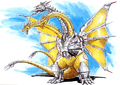 Concept Art - Godzilla vs. King Ghidorah - Mecha-King Ghidorah 4