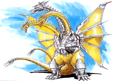 File:Concept Art - Godzilla vs. King Ghidorah - Mecha-King Ghidorah 4.png