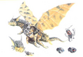 Concept Art - Rebirth of Mothra 3 - Garu Garu 1