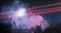 Queen Legion's laser tendrils striking Gamera - 2