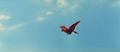 All Monsters Attack - Giant Condor flies in while in stock footage form 1