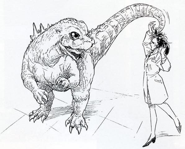 File:Concept Art - Godzilla vs. MechaGodzilla 2 - Baby Godzilla 4.png