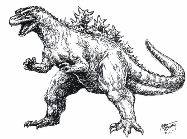 File:Concept Art - Godzilla vs. Destoroyah - Godzilla Junior 1.png