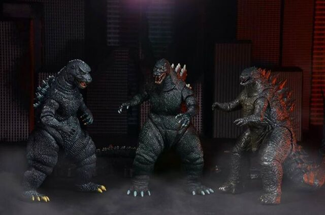File:NECA Godzillas.jpg