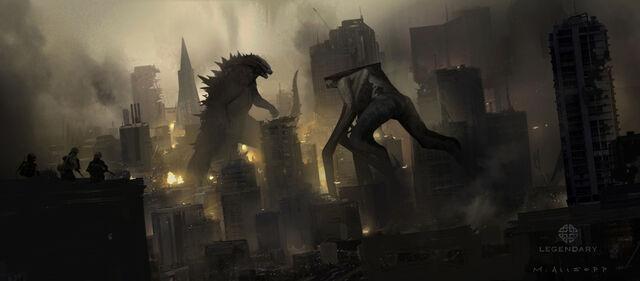 File:Concept art - Godzilla 2014 - Godzilla vs. MUTO 2.jpg