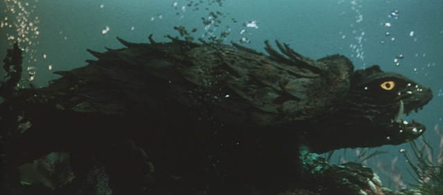 File:Gamera - 3 - vs Gyaos - 14 - Gamera is underwater healing from wounds.png