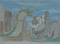 Gamera vs. Garasharp Storyboard 4