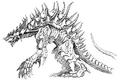 Concept Art - Godzilla 2000 Millennium - Orga 95