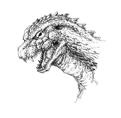 File:Concept Art - Godzilla 2000 Millennium - Godzilla Head 2.png