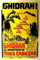 Ghidorah the Three-Headed Monster Poster Argentina 1