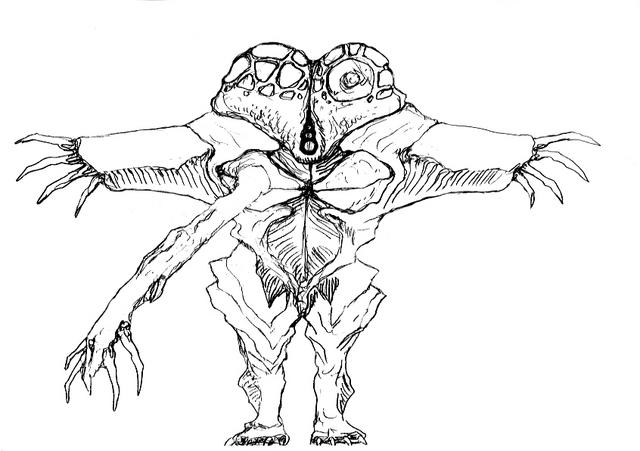 File:Concept Art - Godzilla 2000 Millennium - Orga 62.png