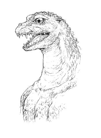 File:Concept Art - Godzilla 2000 Millennium - Godzilla Head 1.png