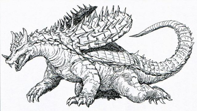 File:Concept Art - Godzilla vs. Ghost Godzilla - Anguirus 2.png