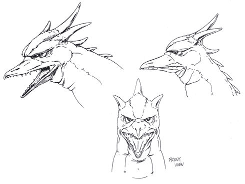 File:Concept Art - Godzilla vs. MechaGodzilla 2 - Rodan Head 1.png