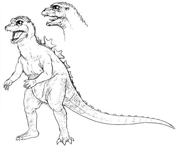File:Concept Art - Godzilla vs. MechaGodzilla 2 - Baby Godzilla 6.png